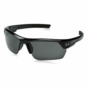 UNDER ARMOUR IGNITER 2.0 SUNGLASSES SHINY BLACK FRAME  GRAY LENS NEW!! 19144