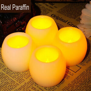 2pcs Real Paraffin Simulation LED Candles For Halloween Christmas Wedding Decora