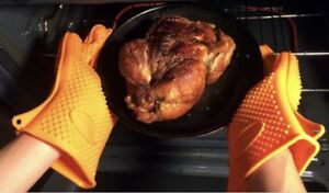 BBQ Grilling Gloves Oven Mitts Cooking Baking Potholder Heat Gloves - Waterproof