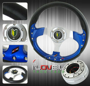 320mm Pvc Leather Wrapped Steering Wheel W/ 1.5