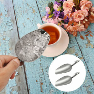Stainless Steel Ice Scoops Utility Scooper for Kitchen Chilled Drinks Bar Hotel