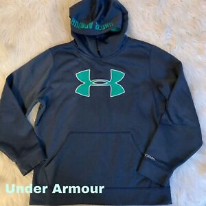 Boys Under Armour Hoodie YMD Loose Fit Blue Logo 8 10 $13.99