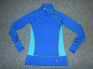 UNDER ARMOUR FITTED WOMENS SMALL LONG SLEEVE STRETCH RUNNING SHIRT            B5