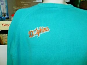 Vintage NFL Miami Dolphins JCPenney the Fox Knit Pullover sweater Lg Back LOGO