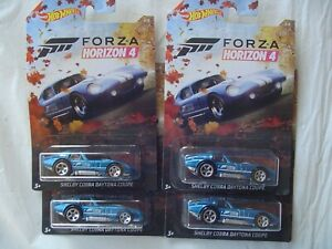 Hot Wheels 2019 Forza Horizon 4 =  LOT OF 4 = SHELBY COBRA DAYTONA COUPE