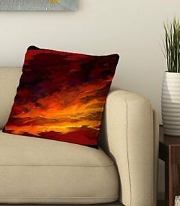 Abstract Printed Cotton Pillow Case Waist Cushion Cover Home Decoration 16X16 $12.99