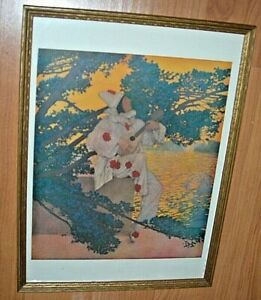 Maxfield Parrish Pierrot Vintage Original Portal Publication Lithograph Print EX