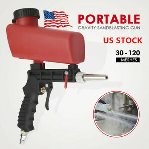 90psi Gravity Sandblasting Spray Gun Pneumatic Small Sprayer Machine Portable