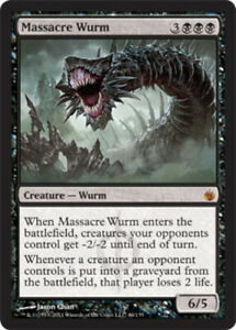 Mirrodin Besieged Massacre Wurm x1 NM Mint, English Magic Mtg M:tG