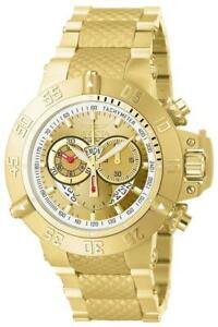 Invicta Subaqua Noma III 5403 Men's Chronograph Day Date Gold Tone Analog Watch