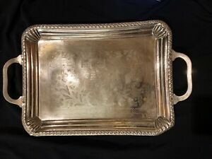 Jawaharlal Nehru's Gift To King Faisal II of  Iraq Silver Two Handled Tea Tray