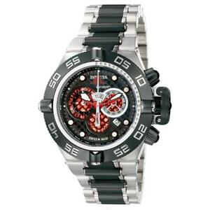 Invicta Subaqua Noma IV 6550 Men's Red Black Chronograph Date Round Analog Watch