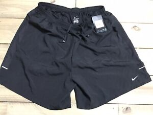 NWT Men's NIKE Dri Fit RUNNING SHORTS Inner Brief REFLECTIVE Black XXL