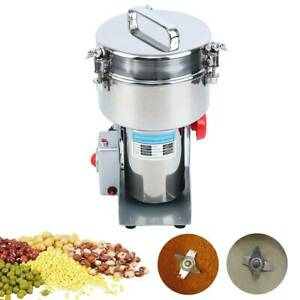 2000g Electric Herb Grain Grinder High Speed 32000PRM Cereal Mill Powder Machine