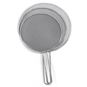 Stainless Steel Cover Lid Oil Proofing Frying Pan Splatter Screen Spill Proof