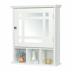 Wall Mount Bathroom Cabinet Storage Medicine Cabinet Kitchen Laundry