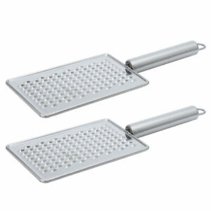 Stainless Steel Cheese Grater Fruit Flat Vegetable Cook Grater for Kitchen, 2pcs