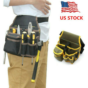Electrician Waist Pocket Belt Tool Pouch Bag Canvas Hardware Toolkit Holder Bag