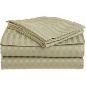 3-pc Twin Sage Superior 1500 Series Striped Brushed Microfiber Sheet Set