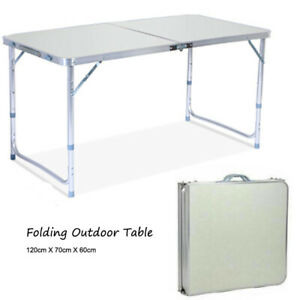 Folding Table Indoor Outdoor BBQ Portable Plastic Picnic Party Camp Tables US