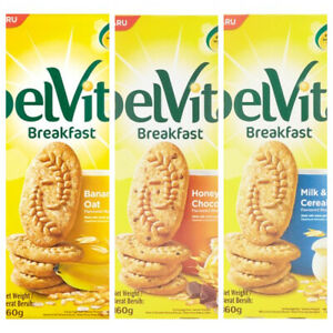 Belvita 3 Flavoured Breakfast Biscuit 8 x 20g 160g Halal Approved