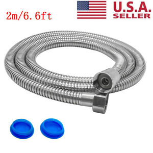 6.6Ft Shower Head Hose Extra Long 2M Stainless Steel Hand Held Bathroom Flexible