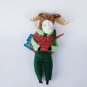 Target Plush Holiday Critters Ornaments Moose Felt