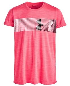 New Under Armour Big Girls Hybrid Logo Print T Shirt Choose Size $14.99