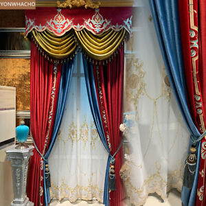 the special link for Chinese Red French Velvet cloth custom a set B632 curtain
