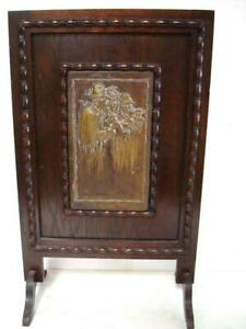 Antique Repousse Pictorial Panel on Wood Stand Dutch?