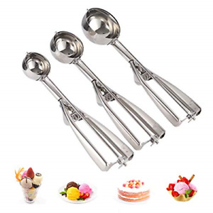 Stainless Steel Ice Cream Scoop Chef Soup Cookie Scoop Cupcake Trigger Medical