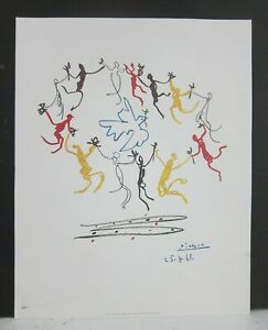 Picasso 'The Youth Circle' (1961) - VTG 1990s Reproduction Lithograph 11x14