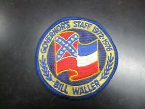 SCARCE VINTAGE MISSISSIPPI CONFEDERATE GOVERNOR'S STAFF WALLER PATCH 1972 FLAG