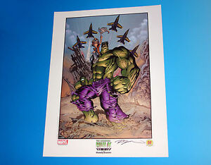 Incredible Hulk September 11th Lithograph Signed by Randy Queen Marvel Comics $34.95