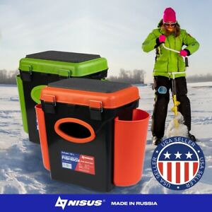 FishBox Ice Fishing Tackle Box 1 Adjustable Compartment with Seat 10L