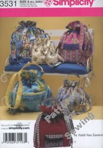 Pattern Simplicity Sewing Bags 5 Styles By Faith Van Zanten NEW $9.00