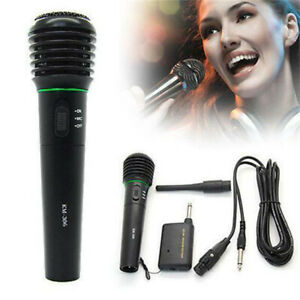 Wireless Microphone Handheld 2in1 Mic Cordless Receiver for Church Karaoke $14.78