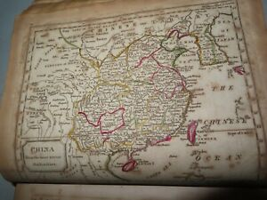 1809 BARCLAYS ENGLISH DICTIONARY WITH 13 COLOUR MAPS HINDOOSTAN AFRICA USA *