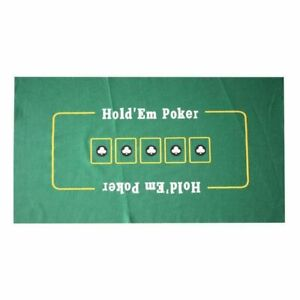 Portable Cover Sealed Poker Table Top Green Mat Pad Blackjack 24quot; x 36quot; Holdem