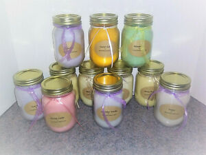 handmade soy jar candles, choice from 245+ scents, 16 oz jars, FREE shipping
