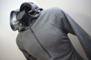 33140 Womens Under Armour Loose Performance Gray Zip Neck Hoodie Sz Medium $15.80