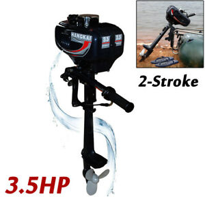 2 Stroke 3.5HP Fishing Boat Engine Motor CDI System Petrol Power Outboard Engine