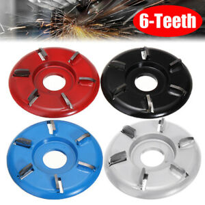 1Pcs 90mm 6 Teeth Wood Carving Disc Woodworking Milling Cutter for Angle Grinder