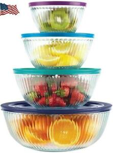 Pyrex 4-piece 100 Years Glass Mixing Bowl Set (Limited Edition) - c31e5f