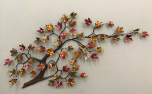 Large Maple Tree w Enameled Autumn Leaves Metal Wall Sculpture by Bovano W105A $2,970.00