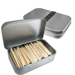 Waterproof Matches Wooden Fire Starters In Tin Containers