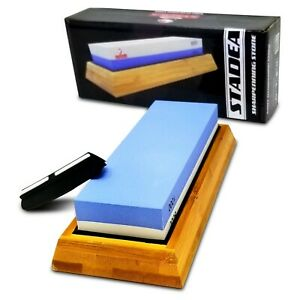 Stadea  Kitchen Knife Whetstone Sharpening Stone Wet Sharpener Honing Kit-2 Grit