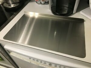 Stainless Steel Cutting/Chopping Board Counter Top Protector (28W x 24D) w/ 1