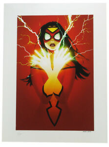 Sideshow Collectibles Spider-Woman Premium Art Print Lithograph Marvel Sample