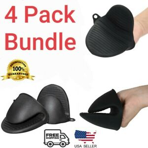 4 Pack Mini Silicone Mitts Pot Holder Pinch Clam Mitts Use With Ninja Foodi 4pcs